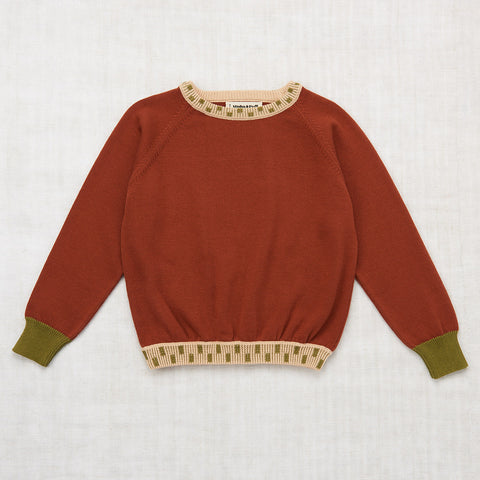 Cotton Keyboard Pullover - Rust - 2-8y