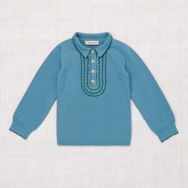 Cotton Janis Sweater - Blue Smoke