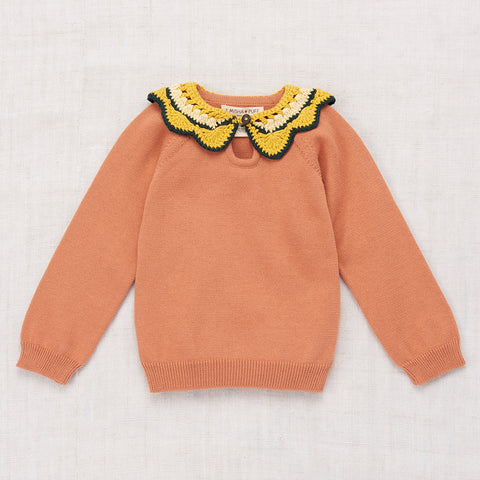 Cotton Juliette Tennis Sweater - Clay - 3-8y