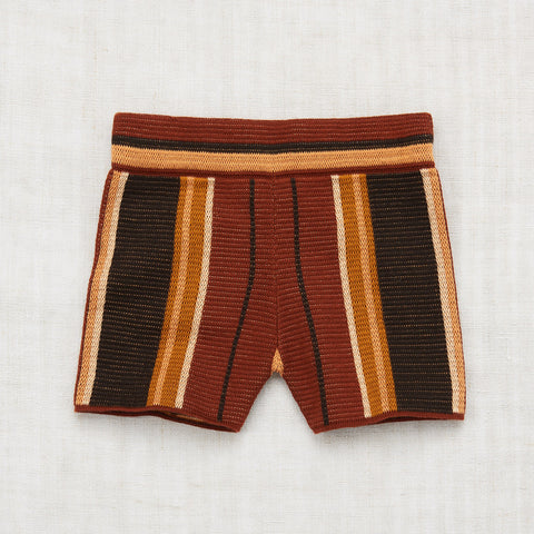 Cotton Kingston Stripe Shorts - Black Walnut - 2-8y