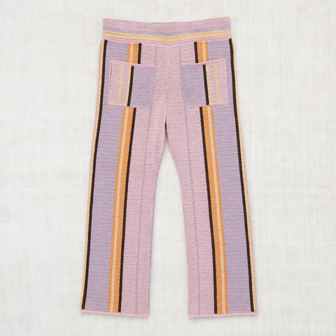 Cotton Kingston Stripe Trousers - Soft Purple - 2-8y