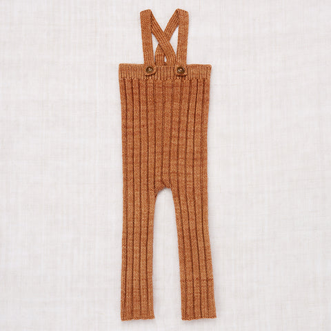 Hand Knit Merino Wool Rib Longies - Rose Gold