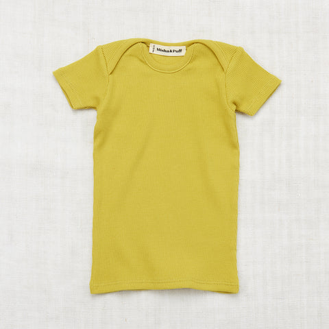 Organic Cotton Rib Slim Tee - Spring Green - 2-8y