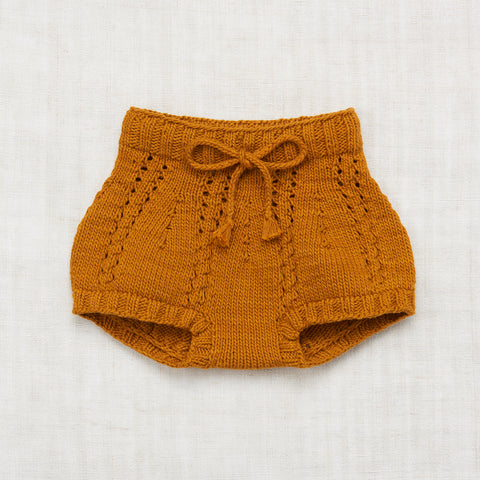 Hand Knit Cotton Sea Urchin Bloomer - Marigold - 6m-5y