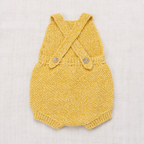 Hand-knit Cotton Starfish Sunsuit - Sunshine - 12m-4y
