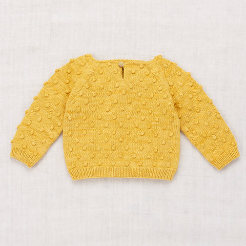 Hand-knit Cotton Summer Popcorn Sweater - Sunshine - 6m-8y