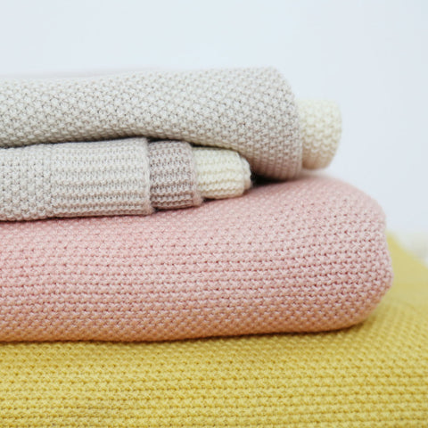 Merino Wool Kids Blanket - Natural Dyes - Natural/Ochre