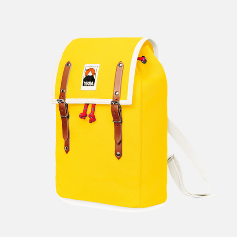 Cotton Canvas Matra Mini Backpack With Cotton Strap - Yellow