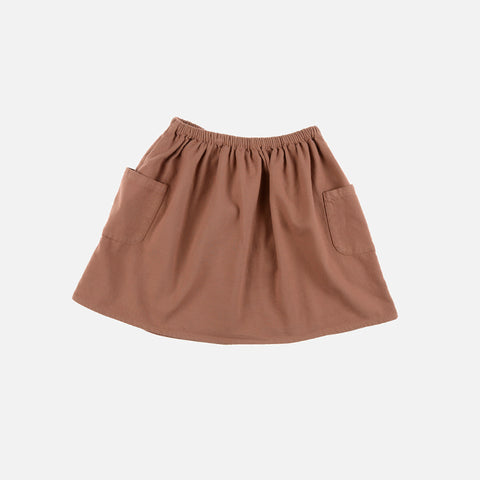 Organic Cotton Molly Skirt - Terracota - 4-8y