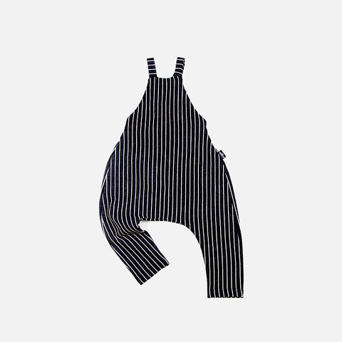 Organic Cotton Stripy Dungarees - 3-5y