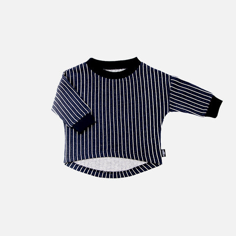 Organic Cotton Stripy Pullover - 3-4y