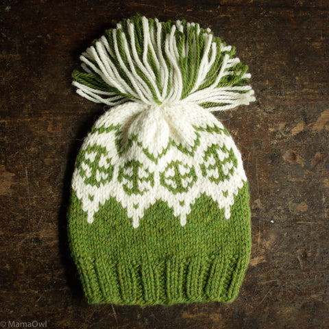 Hand knitted Palle Wool/Alpaca Hat - Forest