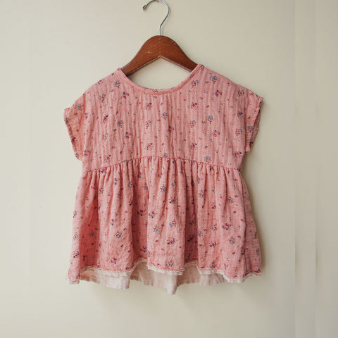 Cotton Natalie Top - Rose - 2-8y