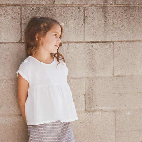 Cotton Natalie Top - White - 2-8y