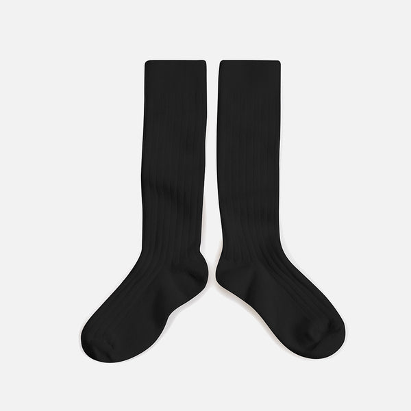 Babies & Kids Cotton Knee Socks - Coal
