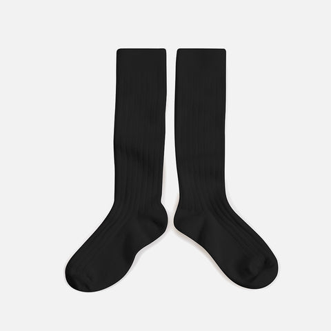 Babies & Kids Cotton Knee Socks - Coal - 1-12y