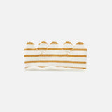 Kitted Cotton Crown Stripe - Ochre/White - 0-6y