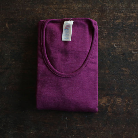 Organic Silk & Merino Wool Ladies Top/Vest - Orchid