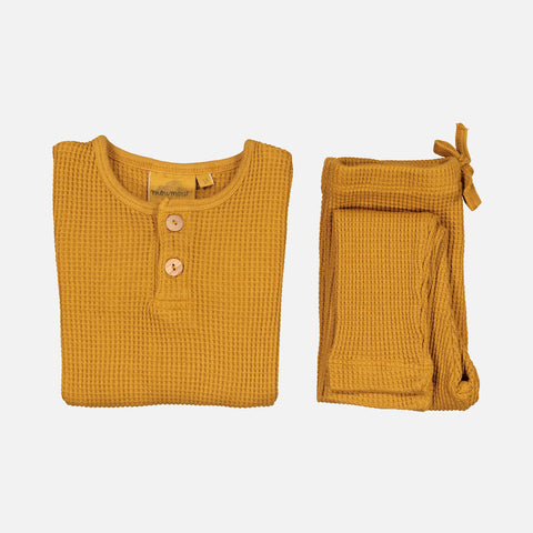 Cotton Ours Bee Honeycomb Pyjamas - Mustard