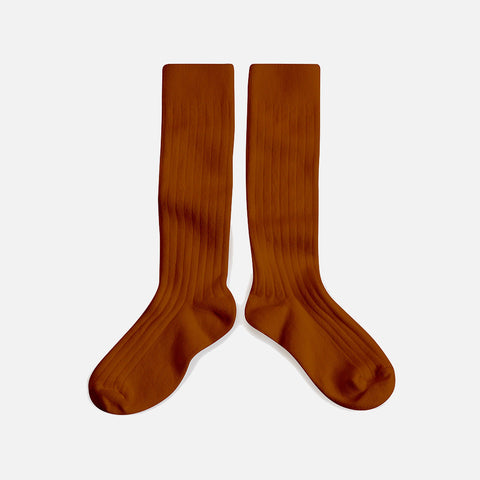 Adult Cotton Knee Socks - Cinnamon