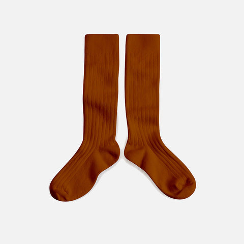 Babies & Kids Cotton Knee Socks - Cinnamon - 1-12y