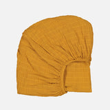 Cotton Papuche Fitted Sheet - Mustard - Small Cot (60x120cm)