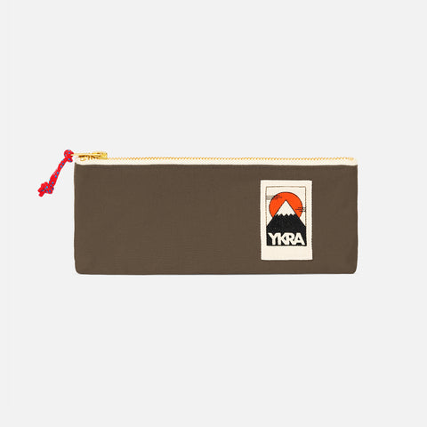 Cotton Canvas Pencil Case - Khaki