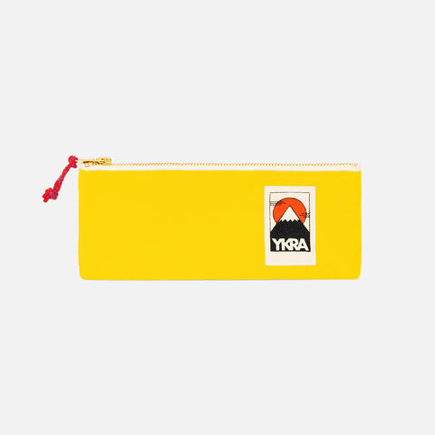 Cotton Canvas Pencil Case - Yellow