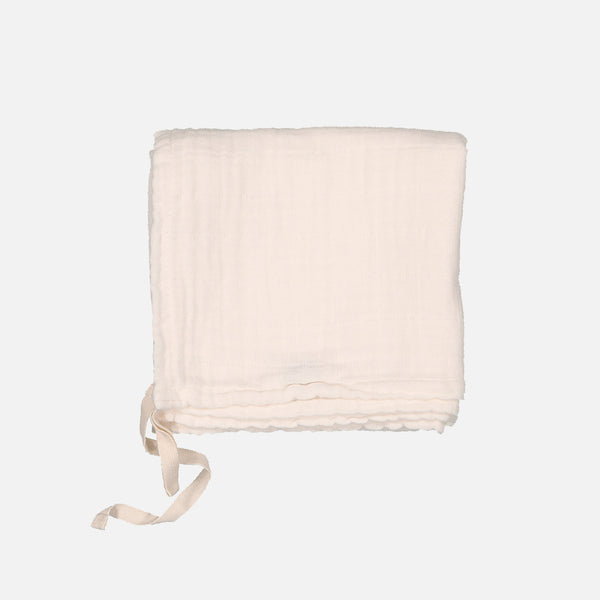 Cotton Muslin Little Swaddle - Milk