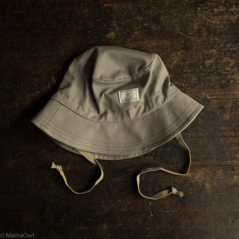 Organic Cotton Bucket Hat - Taupe