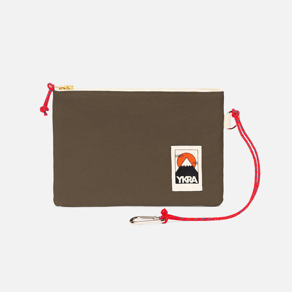 Cotton Canvas Pouch - Khaki