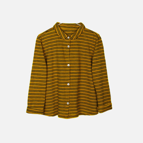 Cotton Poli Striped Shirt - Safran - 2-8y