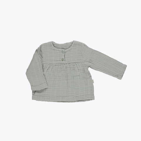 Organic Blouse - Brume Grey - 3m-3years