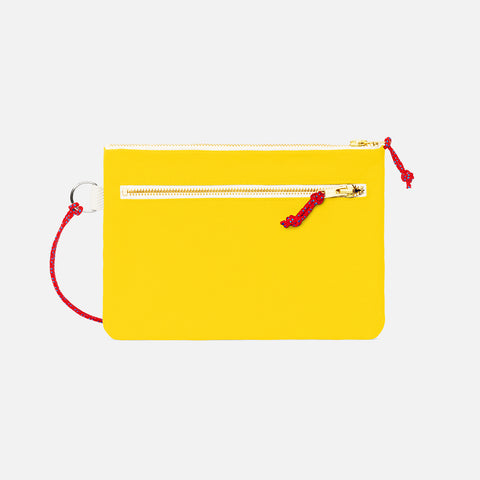 Cotton Canvas Pouch - Yellow