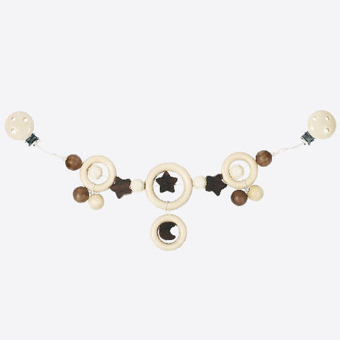Natural Wood Stars and Moons Pram Chain