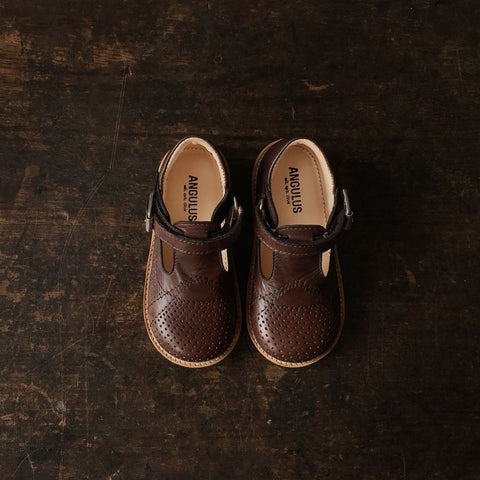 T-Bar Toddler Shoes - Brown - 23 (UK 6) - 25 (UK 8)