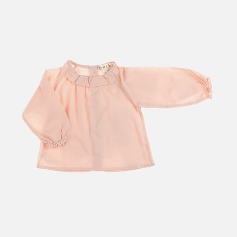 Organic Cotton Rania Blouse - Blush - 3-8y