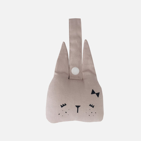 Organic Cotton Rattle - Mauve Bunny