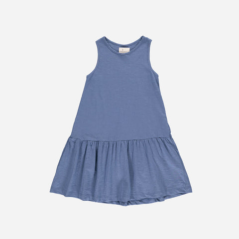 Organic Cotton Jersey Rosa Dress - Denim - 2-10y
