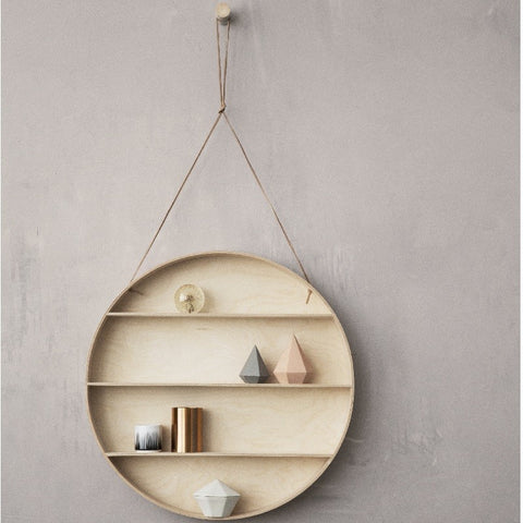 Round Dorm Wood Shelf