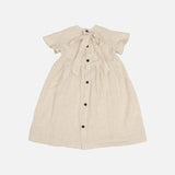 Handmade Linen Florence Dress - Chino Beige - 3-4y