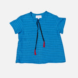 Linen SS July Shirt Stripe - Blue - 2-10y