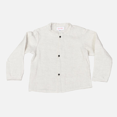 Linen LS Max Shirt - Off White - 2-10y