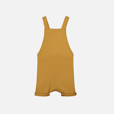 Organic Cotton Short Salopette - Mustard - 12m-8y