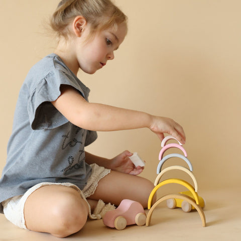 Wooden Arch Stacker - Sand