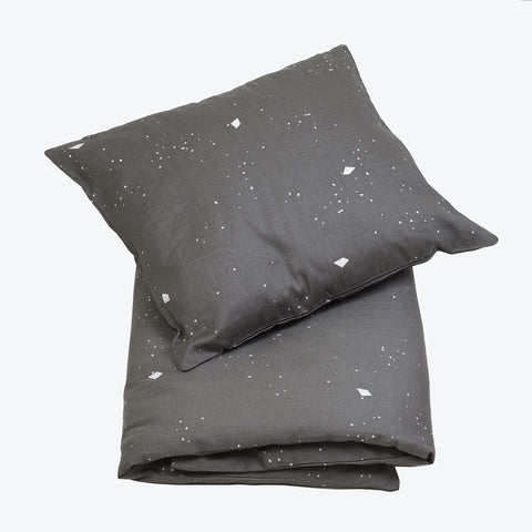 Organic Cotton Duvet and Cushion Cover - Night Sky - Single