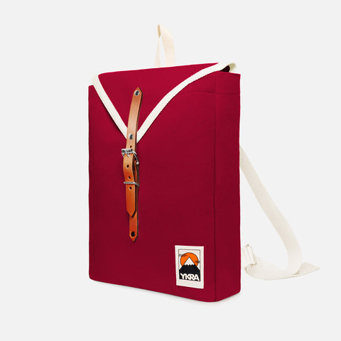 Cotton Canvas Scout Backpack - Bordeaux