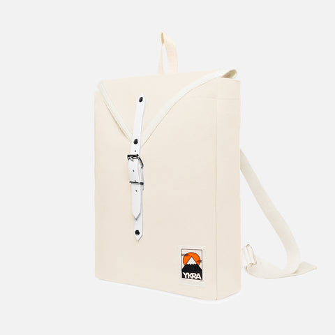 Cotton Canvas Scout Backpack - White