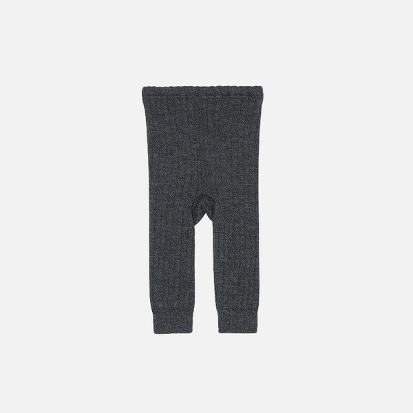 Organic Merino Knitted Baby Leggings - Space - 2m-2y