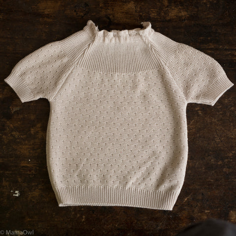 Organic Knitted Cotton Sweater - Dune - 3-24m